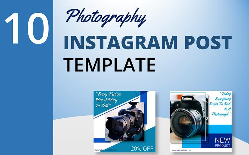 Fotografía - Plantilla de 10 publicaciones de Instagram para redes sociales