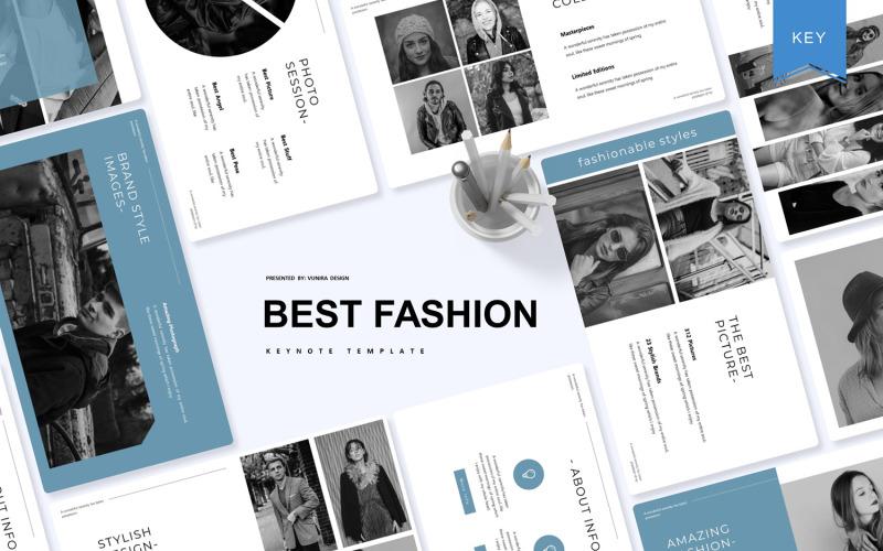 Mejor moda: plantilla de Keynote