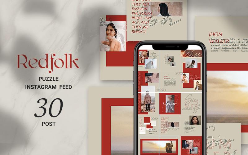 Redfolk Puzzle Instagram Feed Plantilla de redes sociales