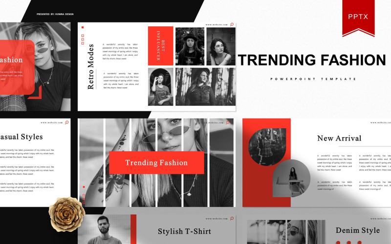 Tendencias de moda | Plantilla de PowerPoint