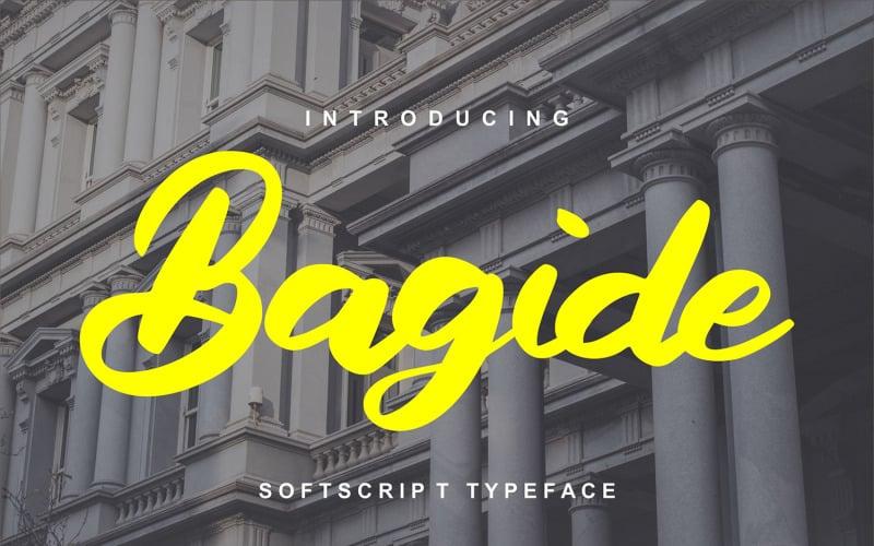 Bagide   Fuente Softscript Typeface