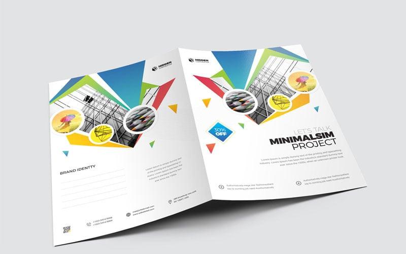 Carpeta de presentación de color claro - Plantilla de identidad corporativa