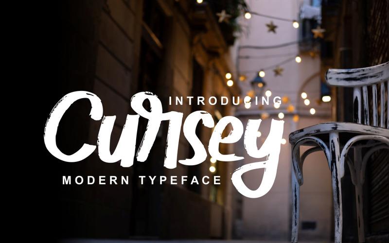Cursey   Fuente tipográfica moderna