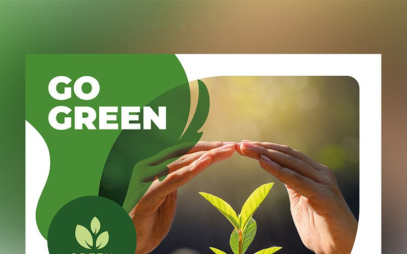 Diseño de volante de medio ambiente con acentos verdes - Plantilla de identidad corporativa