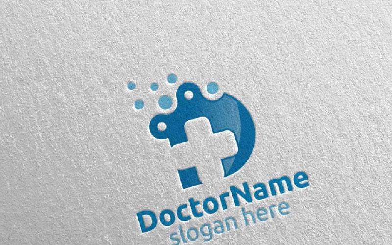 Doctor Cross Medical Hospital Design 26 Plantilla de logotipo