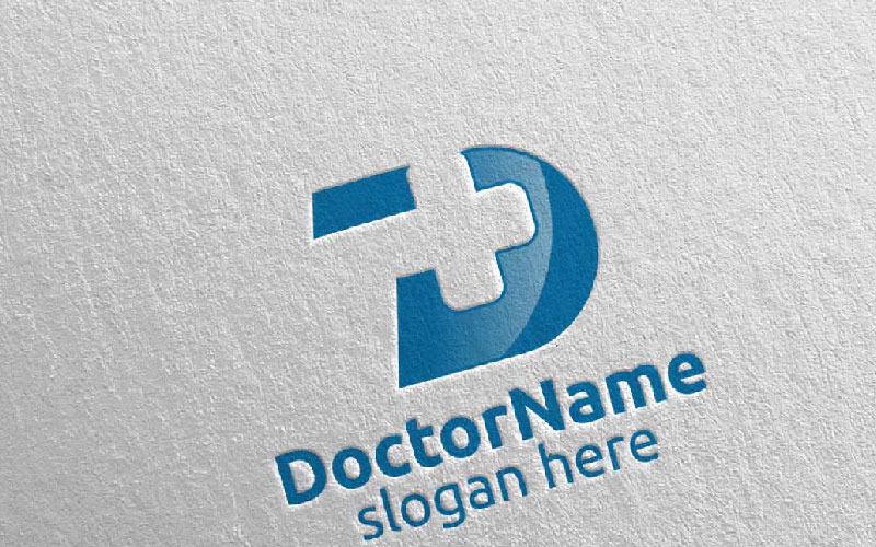 Doctor Cross Medical Hospital Design 27 Plantilla de logotipo