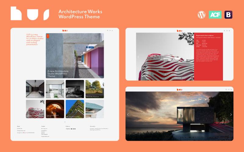 HUS - Tema de WordPress de Architecture Studio Works