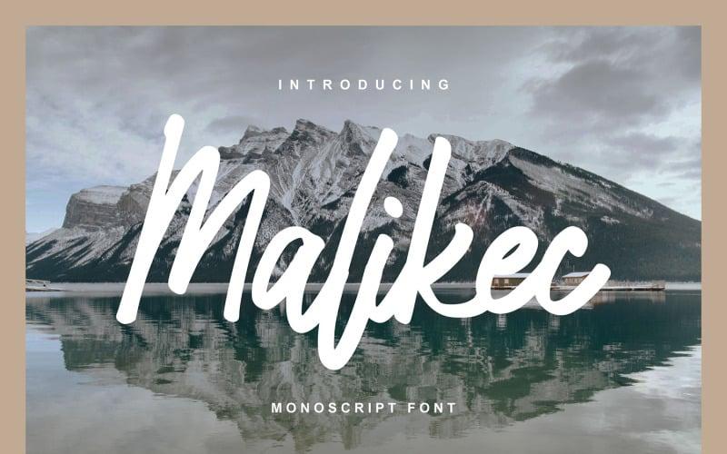 Malikec   Fuente mono cursiva