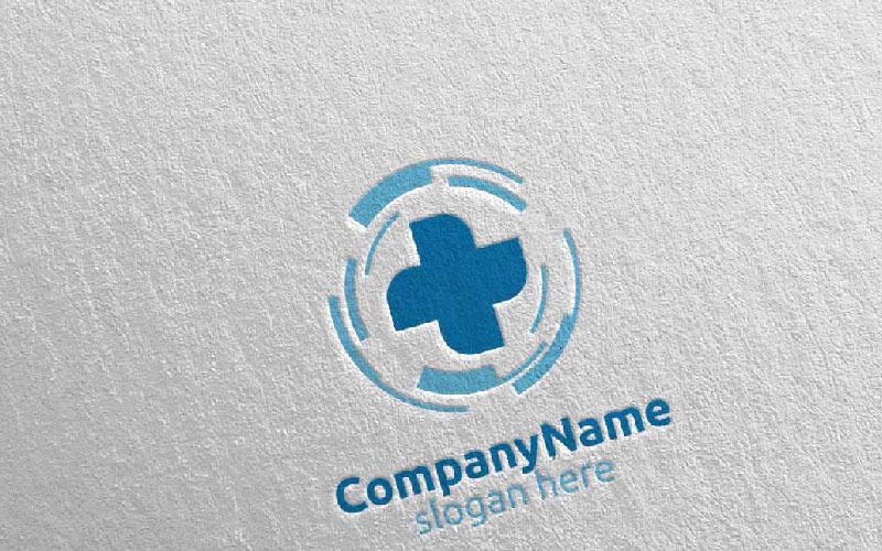Plantilla de logotipo de Biomedicine Cross Medical Hospital 12