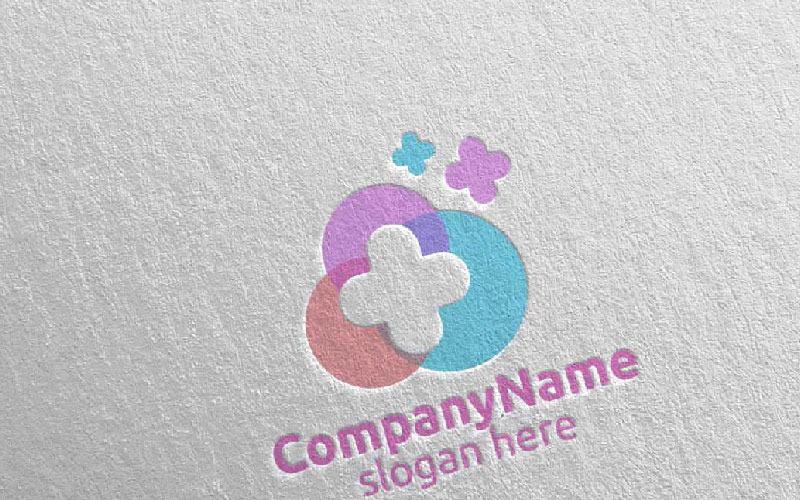 Plantilla de logotipo de Cloud Cross Medical Hospital 24