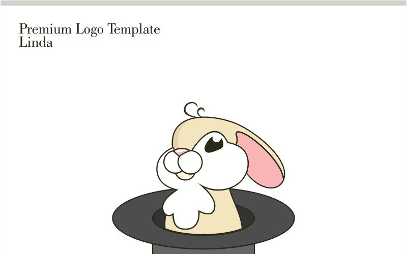 Plantilla de logotipo de conejo