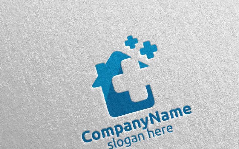 Plantilla de logotipo de Cross Medical Hospital Design 9