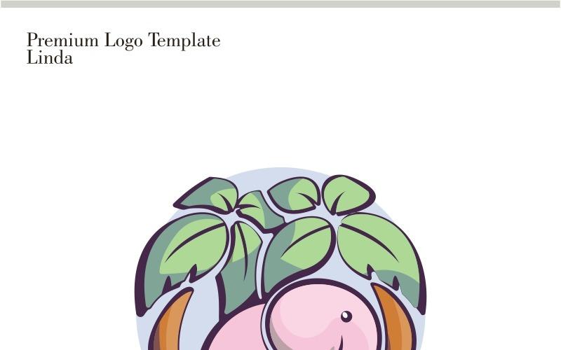 Plantilla de logotipo de elefante
