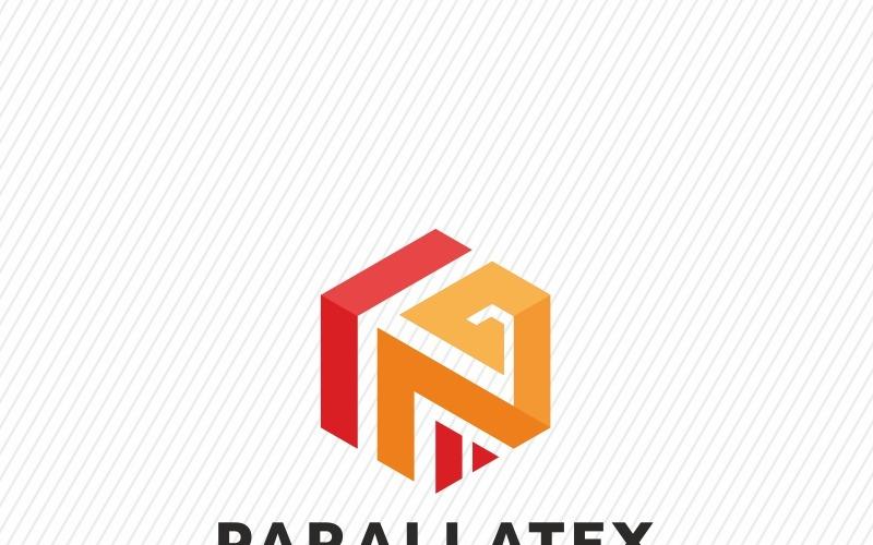 Plantilla de logotipo de letra P de Parallatex