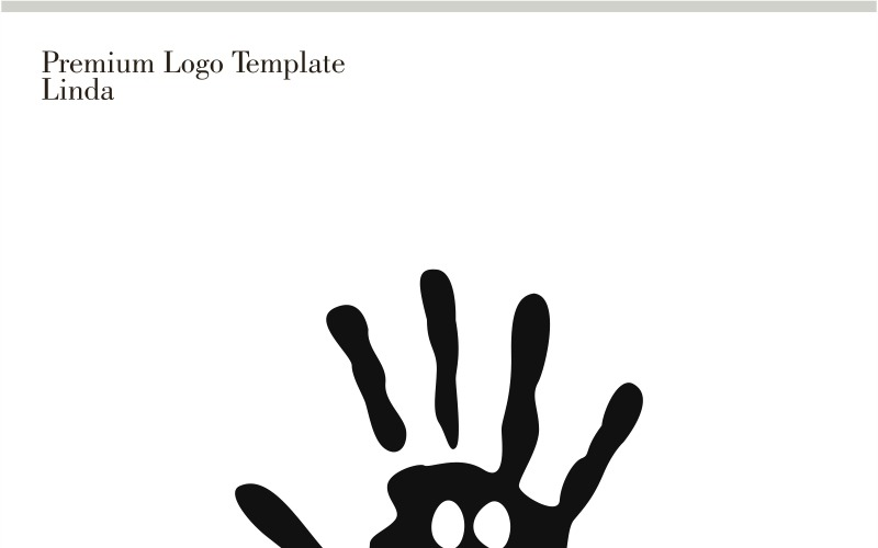 Plantilla de logotipo de mascotas de amor