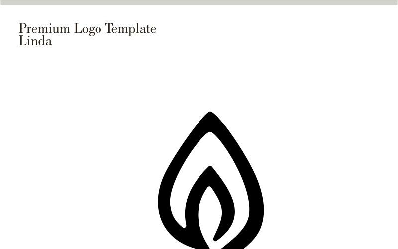 Plantilla de logotipo de meditación