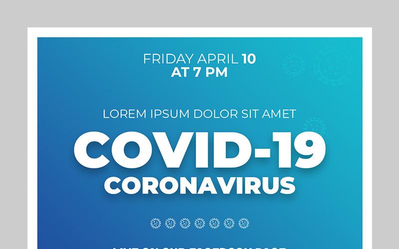Plantilla de redes sociales para conjunto de diseño de publicación COVID-19