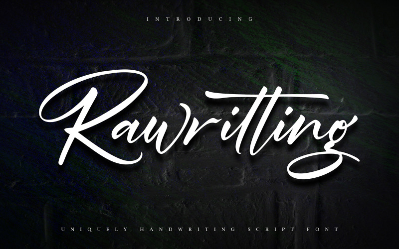 Rawriting   Fuente cursiva de escritura única