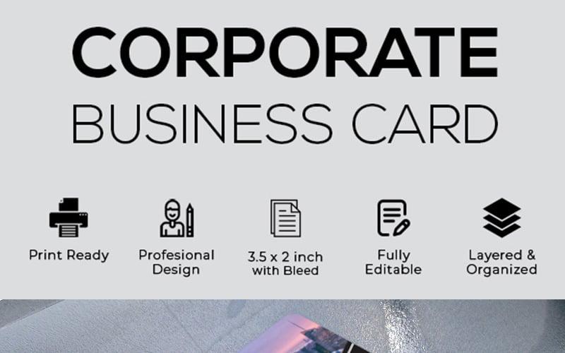 Tarjeta de visita negruzca - Plantilla de identidad corporativa
