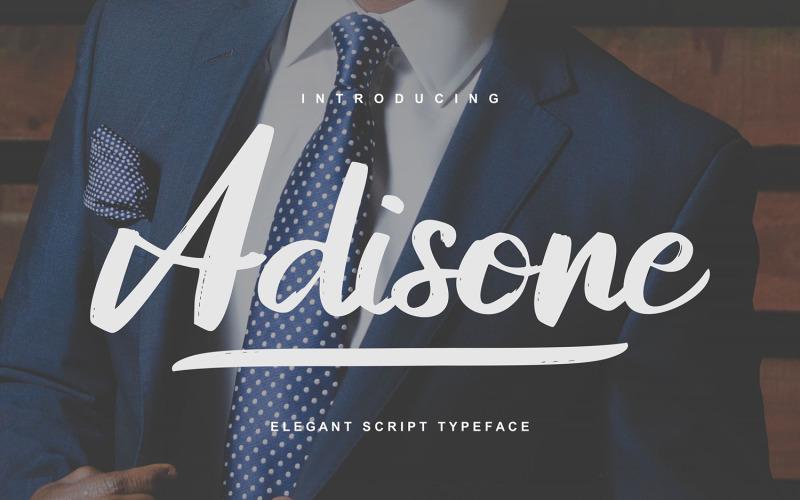 Adisone | Fuente Elegant Script Typeface