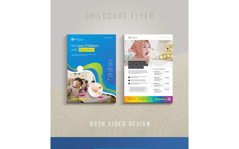 Folleto de maternidad para el cuidado infantil - Plantilla de identidad corporativa