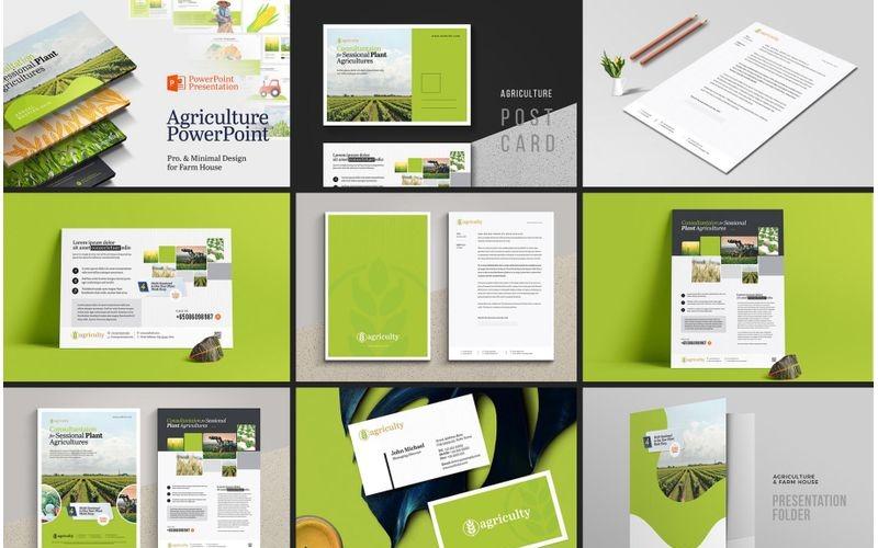 Marca de la casa agrícola agrícola - Plantilla de identidad corporativa