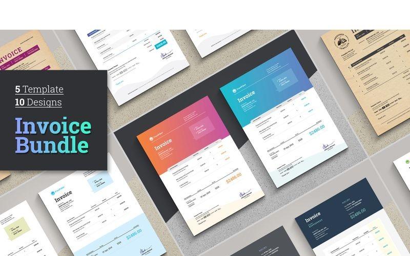 Paquete de facturas de Excel   Ahorre 80% - Plantilla de identidad corporativa