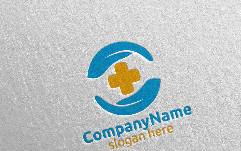 Plantilla de logotipo Cross Scure Medical Hospital 35