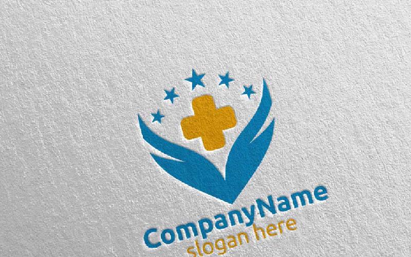 Plantilla de logotipo Cross Wings Medical Hospital 36