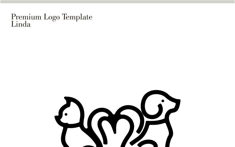 Plantilla de logotipo de mascotas