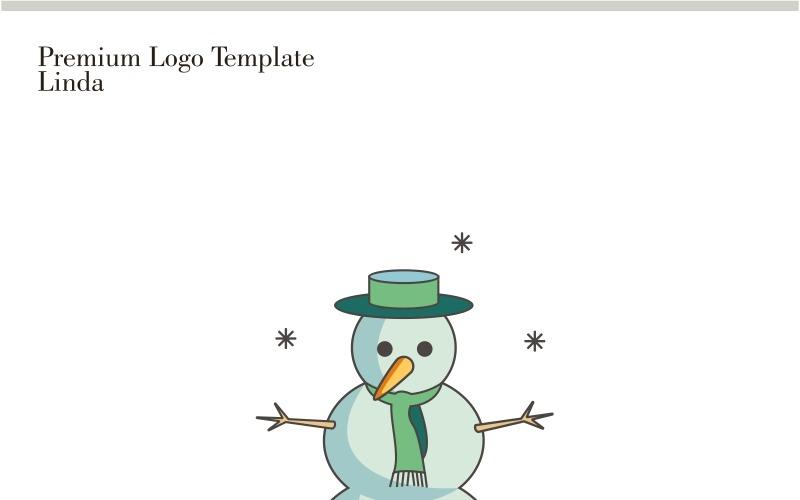Plantilla de logotipo de muñeco de nieve