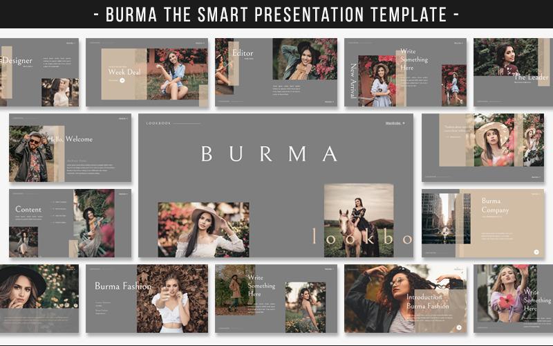 Plantilla de PowerPoint - diapositivas de Google de Birmania