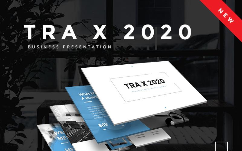 Plantilla de PowerPoint empresarial TRA X 2020
