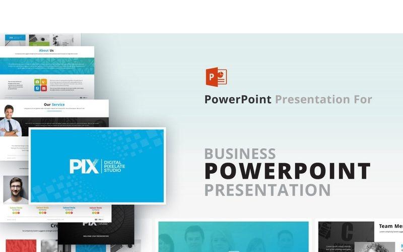 Plantilla de PowerPoint - presentación PIX