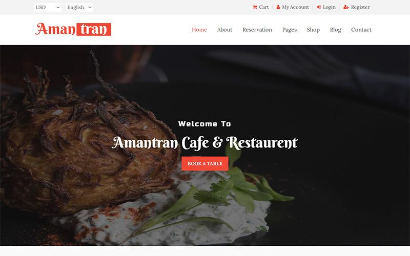 Amantran - Plantilla de sitio web HTML5 para restaurante