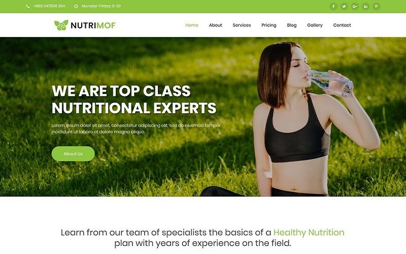 Nutrimof - тема WordPress о питании и здоровье