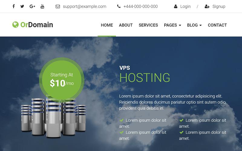 OrDomain - Tema de WordPress para proveedores de dominio y alojamiento