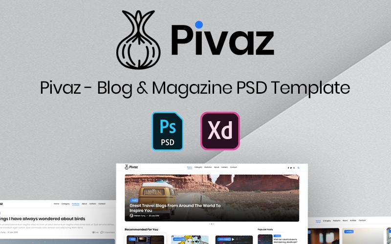 Pivaz - Plantilla PSD para Blog y Revista