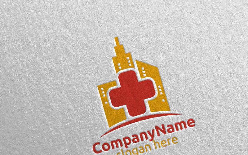 Plantilla de logotipo de City Cross Medical Hospital Design 41