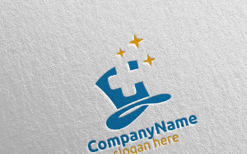 Plantilla de logotipo de Magic Cross Medical Hospital Design 45