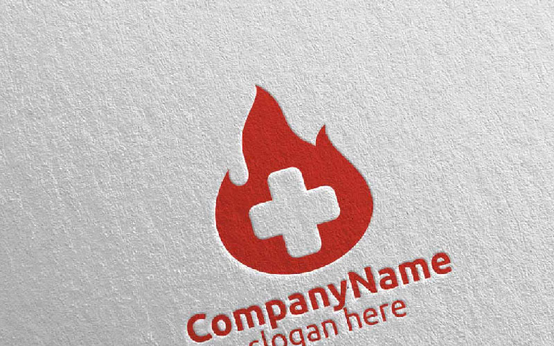 Plantilla de logotipo Fire Cross Medical Hospital Design 49