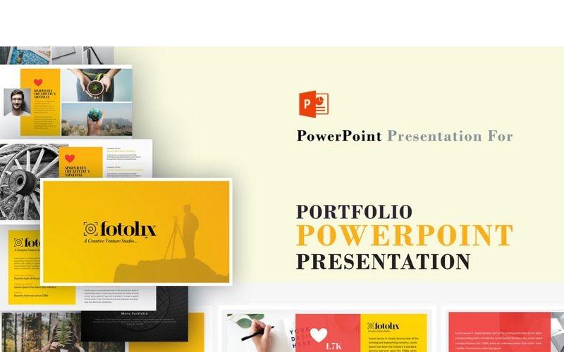 Plantilla de PowerPoint - portafolio y fotografía