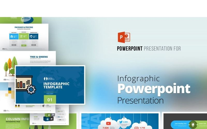 Plantilla de PowerPoint - presentación infográfica