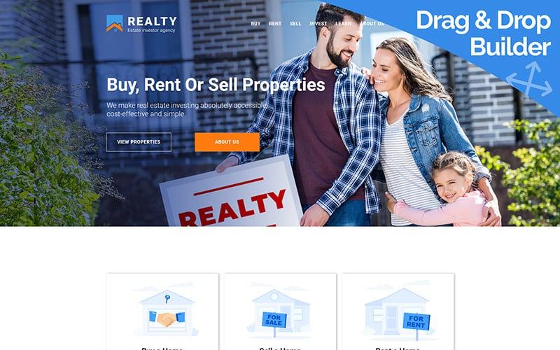 REALTY - Immobilieninvestoragentur Moto CMS 3 Vorlage