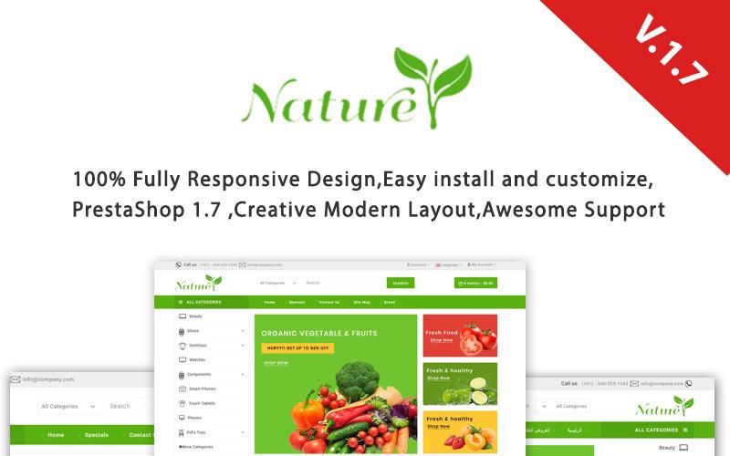 Tema de PrestaShop sensible a la naturaleza