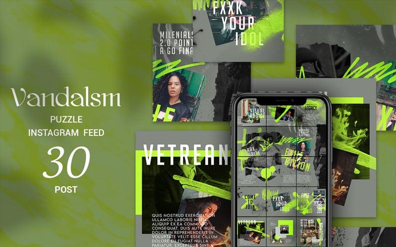 Vandalsm Puzzle Instagram Feed Social Media Template