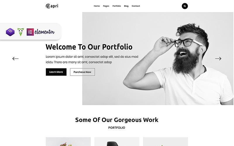 Papri - Tema creativo de WordPress para portafolios