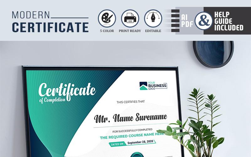 Plantilla de certificado de logros con estilo