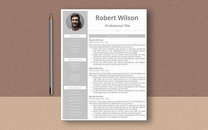 Plantilla de curriculum vitae de Robert Wilson Ms Word