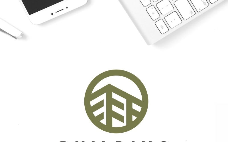 Plantilla de logotipo de construcción